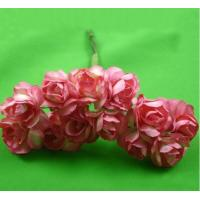 Quality PFPR014Peach Red 2.0cm paper flower rose for sale