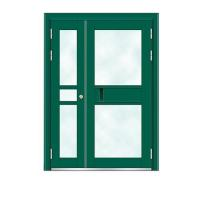 Quality Building Doors Item No.:6012A(Fluorocarbon paint the door green star) for sale