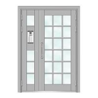 Quality Building Doors Item No.:6004A(Deep silver fluorocarbon paint the door) for sale