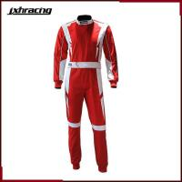Buy cheap Auto Racing Suit (77) Two layer 100% cotton one piece auto racing suit red white C068 from wholesalers