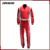 Buy cheap Auto Racing Suit (77) Two layer 100% cottom one piece auto racing suit red white RB-0001customize from wholesalers