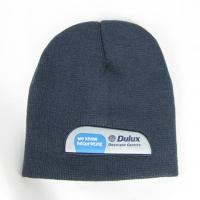 Buy cheap Skull Acrylic beanie with woven label applique from wholesalers