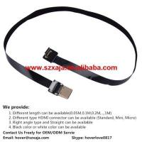 China Ultra Thin HDMI Cable Standard to HDMI Mini Right Angle Flat Ribbon Cable  30CM (11.8) on sale