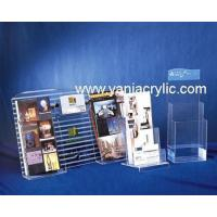 Buy cheap Stylish Plexiglass Stable Polishing Book Stands / Acrylic Sign Holder from wholesalers