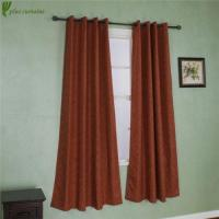 Quality Elegant Comfort Red Color Linen Look Curtain Panel Set for sale