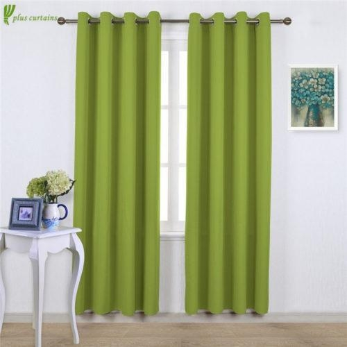 Buy Fresh Green Blackout Window Curtains in Eco-friendly Style at wholesale prices