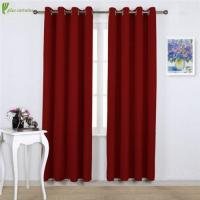China Burgundy Red Blackout Window Treatment Curtains Sale on sale