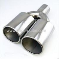 high quality blue muffler exhaust pipe car stainless steel exhaust pipe