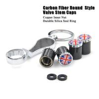 Quality Dreamer Car Carbon Fiber Anti Theft Tire Valve Caps with Spanner SKU: CF for sale