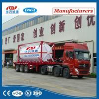 Quality 20ft Lox Lin Lar LNG Lco2 Tank Container Asme T75 ISO Tank Container For Liquid Gas for sale