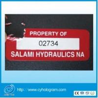 Quality Security Fragile Label with serial black number for sale