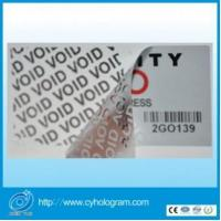 China Security VOID label Tamper proof labels on sale