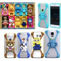 Christmas gift 3D cartoon universal silicone bumper case for mobile phone