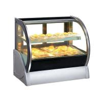 Quality Round Glass Table Top Pastry Showcase for sale