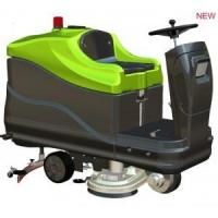 dual-brush ride-on scrubber dryer