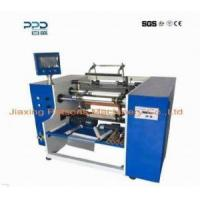 Buy cheap 3 shaft auto gluing aluminium foil roll rewinder from wholesalers