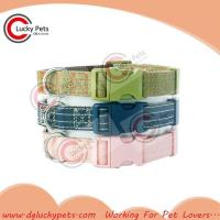 Quality RW-C0014 Various Colors Luxury Canvas Dog Collar for sale