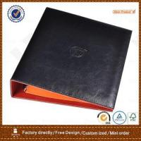 Quality pu leather portfolio with 3 ring metal binder for hotel for sale