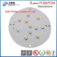 Buy cheap Aluminium SMD Luxeon M LED round led pcb board manufacturing in Shenzhen from wholesalers