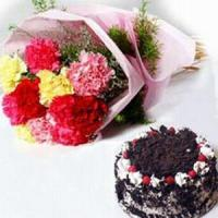Quality Carnations and Cake NO.26 delivery cake to taiwan for sale