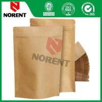 Hot Sale Stand Up Kraft Paper Bag With Zipper