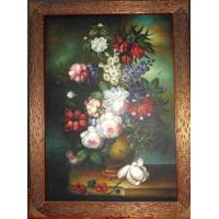 China Realism classical flower oil painting on sale