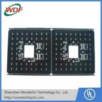 Buy PCB Material double layer FR4 Black Soldermask PCB at wholesale prices
