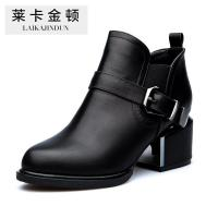 China Autumn and winter boots shoes simple size square boot with a British Martin boots Belt Buckle Boot on sale
