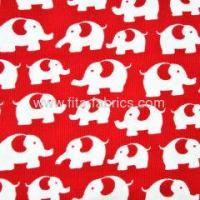 Quality 100% cotton corduroy fabric printed elephants for sale