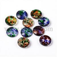 Quality Transparent Spray Painted Glass Cabochons, Dome, Flat Round,...(X-DGLA-R020-16mm-M) for sale