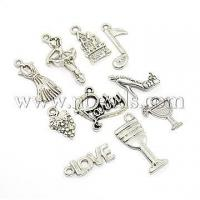 China Party Theme Alloy Pendants, Dancer, Grape, High-heeled Shoes...(TIBEP-X0022-AS) on sale