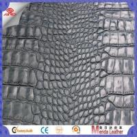 Quality Crocodile skin pattern brush designers pvc leather furniture with fabric in Merida for sale