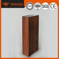 Quality Brushed galvanizing wood grain aluminum profile in construction for sale
