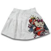 Buy cheap Girl's Skirt, Made of 100% Cotton French Terry, Available in 2 to 16 Years from wholesalers