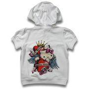 Buy cheap Children's Top with Hood with Iron Drill on Back Body, Made of 100% Cotton French Terry from wholesalers