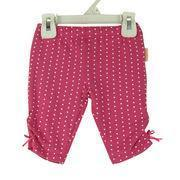 Quality Baby pants with bow knot on side, made of 95% cotton and 5% spandex single jersey for sale