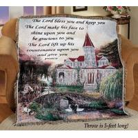 Buy cheap The Lord Bless You Message Tapestry Throw from wholesalers