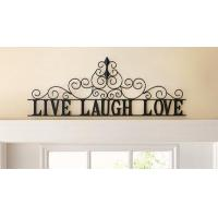 Buy cheap Scrolling Live Laugh Love Metal Wall Art from wholesalers