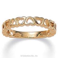 Buy cheap Band of Hearts 14K Gold-Plated Ring from wholesalers