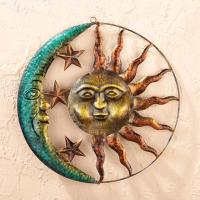 Quality Sun and Moon Metal Wall Art for sale