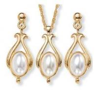 Buy cheap Simulated Pearl Jewelry Necklace & Earrings Set from wholesalers