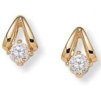 Buy cheap Gifts (1725) Diamonultra(tm); Cz14k Gold-plated Earrings from wholesalers