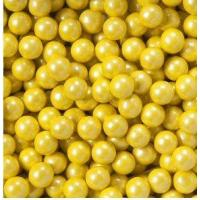 Quality Shimmer Yellow Sixlets Candy Coated Chocolate Balls for sale