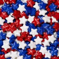 Quality Red, White, and Blue Mix Stars Candy for sale