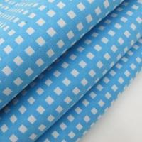 Quality T/C Jacquard Fabric Blue Plaid for sale