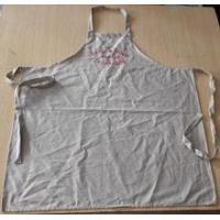 Quality Apron high quality wedding/customized 100% cotton vintage apron in beige color with embroidery for sale