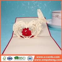 Handmade Card Birthday Pop Up Flower Heart Greeting Card Template