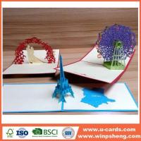 Buy cheap Handmade Card BSCI Handmade Chrsitmas Pop Up Cards Supplier from wholesalers