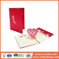 Buy cheap Handmade Card Different Types 3d Heart Pop Up Valentines Card Template Free from wholesalers