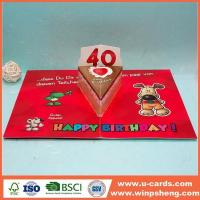 Buy cheap Handmade Card Personalised Printable Diecut Pop Up Cards For Birthday from wholesalers